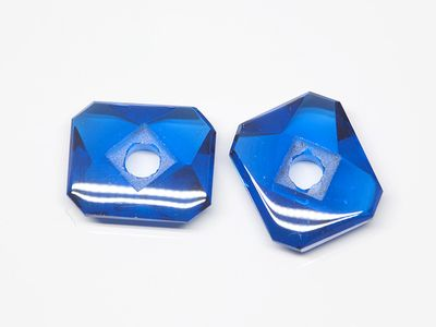 Bright Blue Syn Spinel Buff-Top 12x10mm Emerald C/Sunk (S)