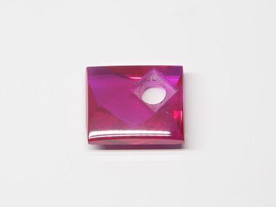 Syn Ruby Pink 12x10mm Rect BT Corner CS (S)