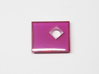 Syn Ruby Pink 14x12mm Rect BT Corner CS Flat Back (S)