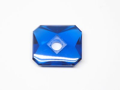 Bright Blue Syn Spinel Buff-Top 14x12mm Emerald C/Sunk (S)
