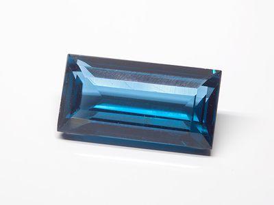 Synthetic Blue Spinel Zircon 18x9mm Baguette (S)