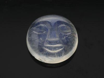 Moonstone Rainbow 13mm Carved Moonstone (N)