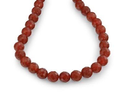 Carnelian 14mm Faceted Round (T)