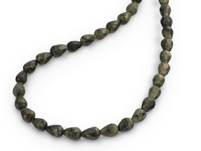 Pyrite 9x6mm+/- Faceted Drop Strand (N)
