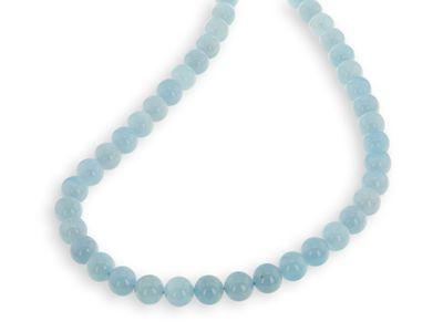 Beads Aquamarine 10mm Polished Round (N)