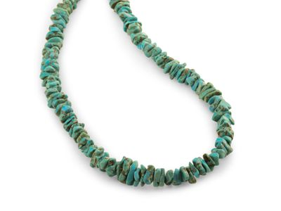Beads Turquoise Stabilised 11-12mm Chips Tumbled (T)