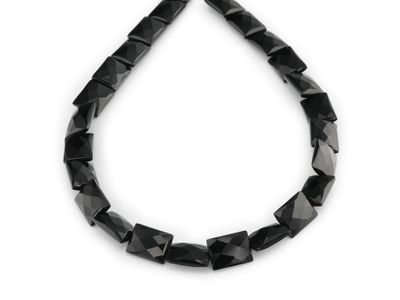 Beads Onyx 16x12mm Rectangle Fac (T)