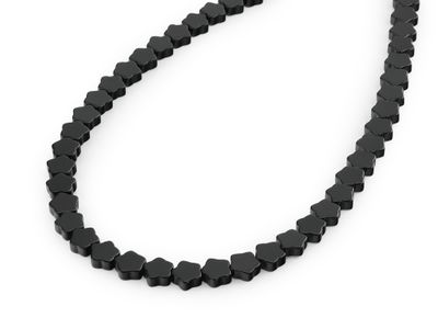 Beads Onyx 8mm Star Flat Pol (T)