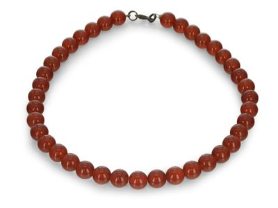 Carnelian Faceted Round 14mm & 6mm w no clasp