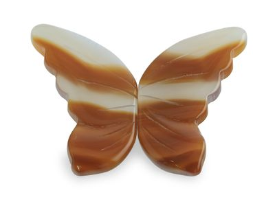 Agate Butterfly Wings Pair 37x25x25mm (N)