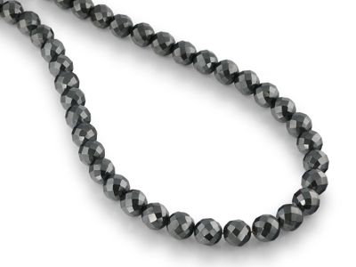 Beads Syn Haematite 10mm Round Faceted (S)