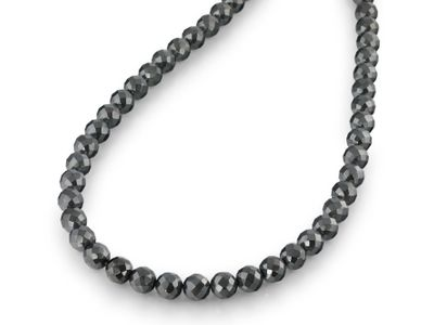 Beads Syn Haematite 8mm Round Faceted (S)