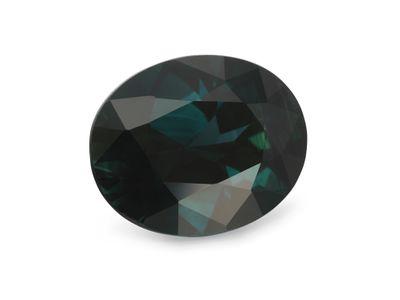 Sapphire Parti Bl/Gr 9.6x8.4mm Oval (E)