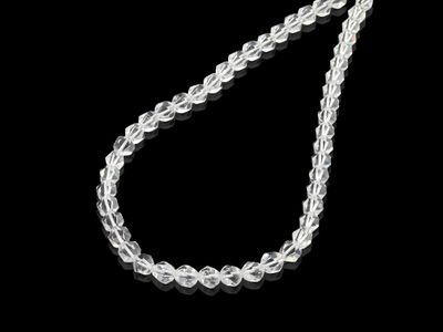 Clear Quartz 8mm Faceted Dodecahedron Strand (N)