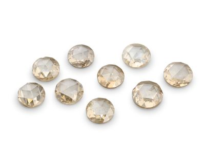 Diamond Champagne 3.5-4mm Round Rose Cuts (N)