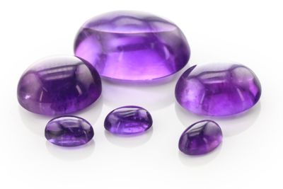 Amethyst 12x10mm Oval Cabochon Mid-to-Strong Colour (N)