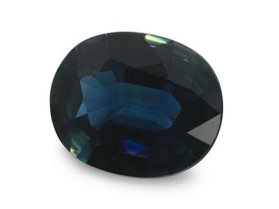 Sapphire Blue Parti 9.5x7.8mm Oval (E)