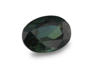 Sapphire Bl/Gr Parti 7.85x5.7mm Oval (E)