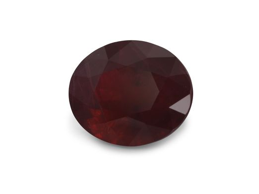 Ruby 6.9x5.85mm Oval Dk Red (E)