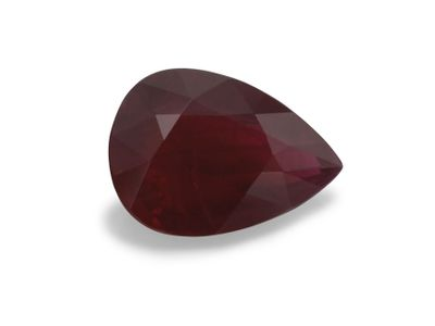 Ruby 7.7x5.6mm Pear Dk Red (E)