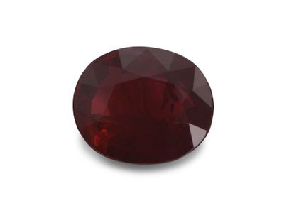 Ruby 7x5.9mm Oval Dk Red (E)