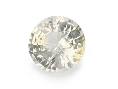 Sapphire Pale Yellow 10.5mm Round UNHEATED (N)
