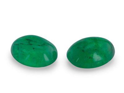 Emerald 7x5mm Oval Cabochon (E)