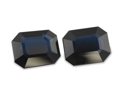 Sapphire Aust Bl 9.5x7.5mm Em/c PAIR (E)