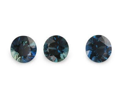 Sapphire Parti 5mm Round (E)