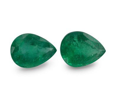 Emerald 10x7.8mm Pear PAIR (E)