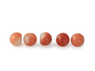 Coral Red 4mm Bead 3/4 H/D (N)