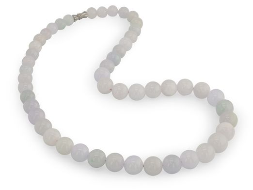 Lavender and Green Jadeite Grad 8-12.5mm Rd Pol. with Clasp (N)