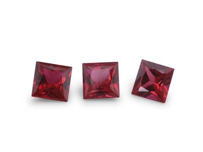 Hydrothermal Ruby 5mm Square Princess(S)