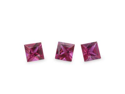 Ruby 3.25mm Sq/Prin Good Pink Red (E)