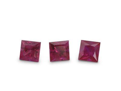 Ruby 3.75mm Sq/Prin Good Pink Red (E)