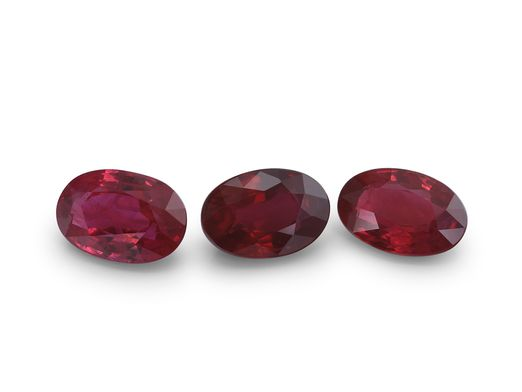 Ruby 6x4mm Oval Good Red (E)
