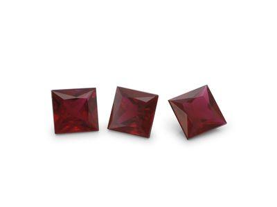 Ruby3.75mm Sq/Prin Good Red (E)