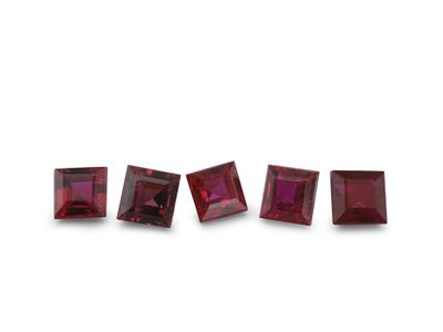 Ruby 2.75mm Sq/Carre Good Red (E)