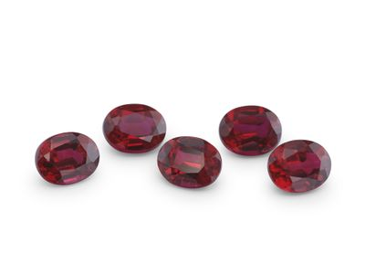 Hydrothermal Ruby 5x4mm Oval (S)