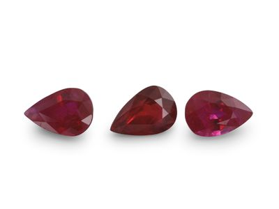 Ruby 6x4mm Pear Good Red (E)