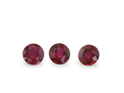 Ruby 4mm Round Good Red (E)