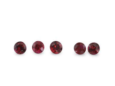 Ruby Mozambique 2.5mm Round  (E)