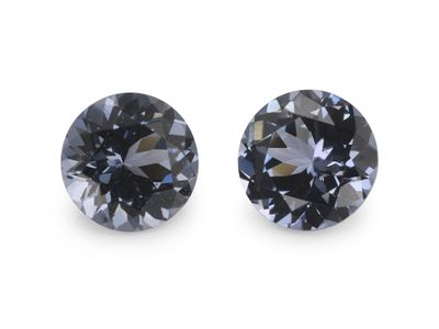 Spinel Purple Blue 4.50mm Round PAIR (N)