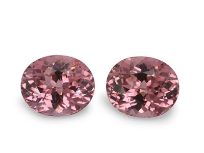 Spinel Pink Orange 8.2x7.2mm Oval PAIR Vietnam (N)