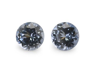 Spinel Pale Blue 4.25mm Round PAIR (N)