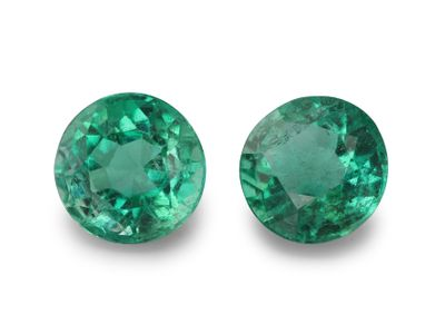 Emerald 5.7mm Round PAIR (E)