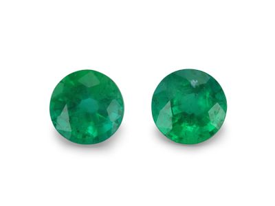 Emerald 4.5mm Round PAIR (E)