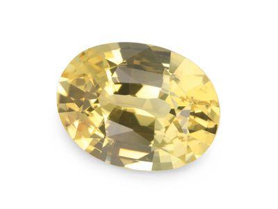 Sapphire Light Yellow 9.7x7.4mm Oval (E)