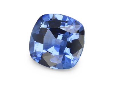Sapphire Cey Lt Blue 8mm Sq Cushion  (E)