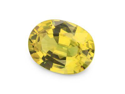 Sapphire Bright Yellow 9x7mm Oval (E)